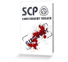 SCP: Containment Breach survivor Greeting Card