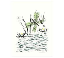 Life at the Pond Art Print