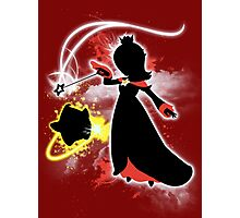 Super Smash Bros. White/Red Rosalina Silhouette Photographic Print