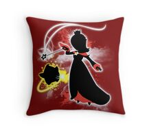 Super Smash Bros. White/Red Rosalina Silhouette Throw Pillow