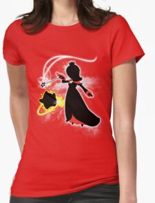 Super Smash Bros. White/Red Rosalina Silhouette Womens Fitted T-Shirt