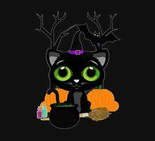 Black Kitten Witch 3 Womens Fitted T-Shirt