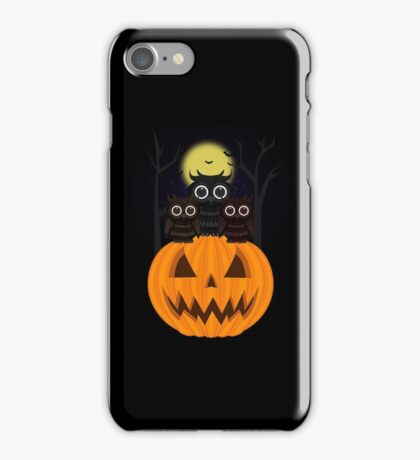 Jack O lantern & Owls iPhone Case/Skin