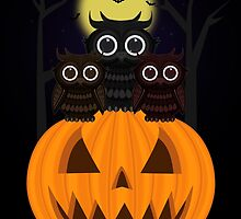 Jack O lantern & Owls by Adamzworld