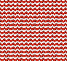 Zig Zag Bricks RedxWhite by GalletaRaton