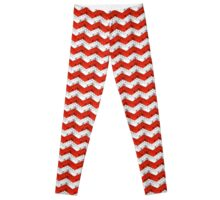 Zig Zag Bricks RedxWhite Leggings