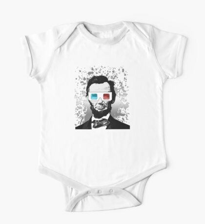 Abraham Lincoln - 3D (2) (Black) One Piece - Short Sleeve