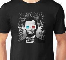 Abraham Lincoln - 3D (2) (Black) Unisex T-Shirt