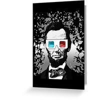 Abraham Lincoln - 3D (2) (Black) Greeting Card