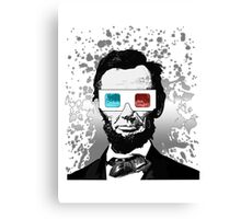 Abraham Lincoln - 3D (2) Canvas Print