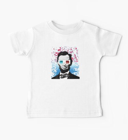 Abraham Lincoln - 3D (Black) Baby Tee