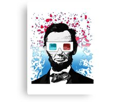 Abraham Lincoln - 3D Canvas Print