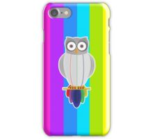 Rainbow Owl (Rainbow) iPhone Case/Skin