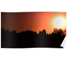 Sunsetting Over Blenheim Palace  Poster