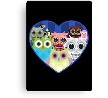 Love Owls 2 (Black) Canvas Print