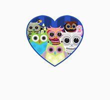 Love Owls 2 (White) Womens Fitted T-Shirt