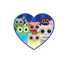 Love Owls 2 (White) Photographic Print
