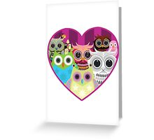 Love Owls 1 (white) Greeting Card
