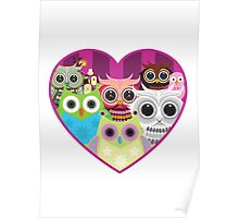 Love Owls 1 (white) Poster