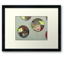 Dog and Boy Framed Print