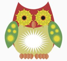 Star Owl - Red Yellow Green Kids Clothes