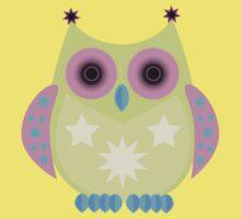 Star Owl - Green Purple Blue Kids Clothes