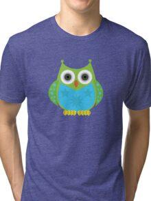 Star Owl - Green Blue Tri-blend T-Shirt