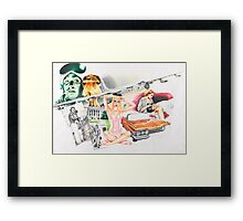 It's the end of the world baby! Framed Print