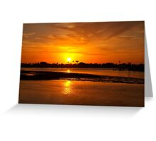 Bright gold sunset Greeting Card