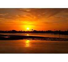 Bright gold sunset Photographic Print