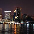 Baltimore City Skyline by Robin Lee