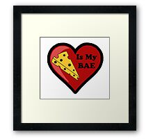 Cheese Is My BAE Framed Print