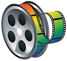 Movie Reel Icon Photographic Print
