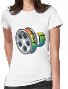 Movie Reel Icon Womens Fitted T-Shirt