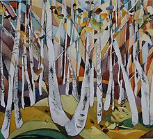 Birches, Rivelin by Cath  Dunn