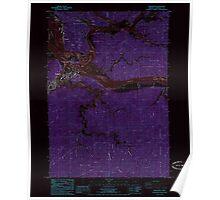 USGS Topo Map Oregon Reedsport 281252 1985 24000 Inverted Poster
