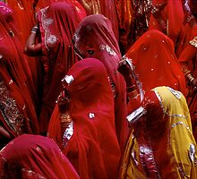Barsana Holi Procession near Mathura, India by J. Adam Huggins