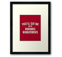 TV Running Marathons Framed Print