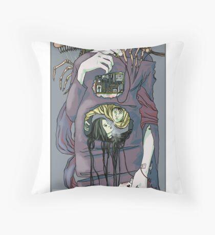 Fish of prey Throw Pillow