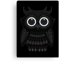 Black Owl Canvas Print