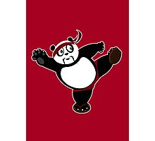 Martial Arts Panda 2 - Red Photographic Print