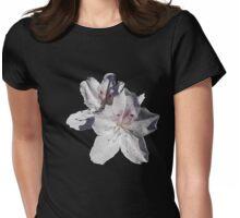 white azalea flowers Womens Fitted T-Shirt