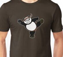 Martial Arts Panda 2 - Brown Unisex T-Shirt