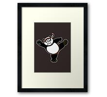 Martial Arts Panda 2 - Brown Framed Print