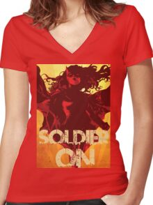 IwillSoldierON Women's Fitted V-Neck T-Shirt