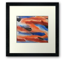 Red Rust and Blue Framed Print