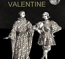 Be My Valentine, Two Men black background by Eric Kempson