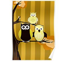 Yellow Owls Poster