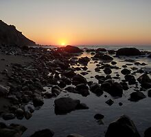 Lighthouse Cove Sunrise - Block Island by Stephen Cross Photography