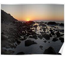Lighthouse Cove Sunrise - Block Island Poster